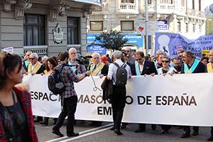 Masonería manifestándose el 7N 2015