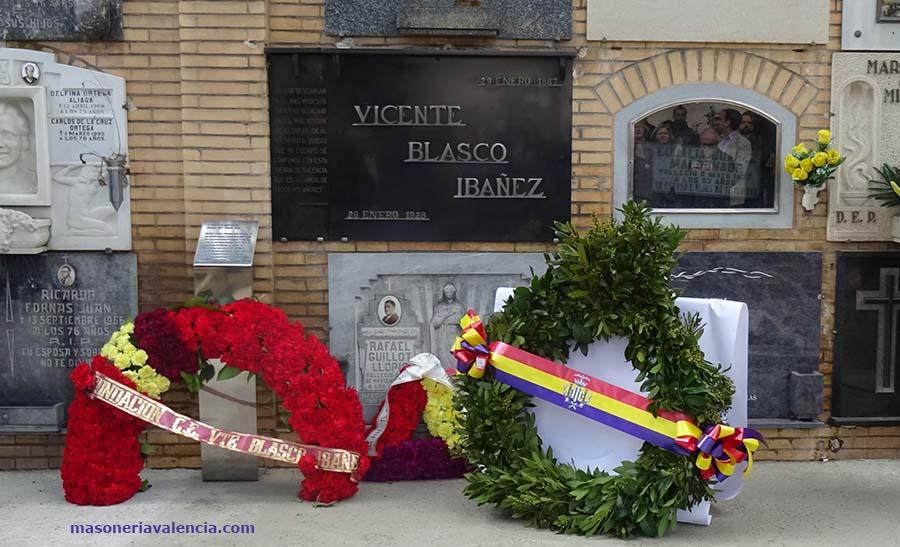 Homenaje a Blasco Ibáñez - Logia Blasco Ibáñez - Masoneria en Valencia