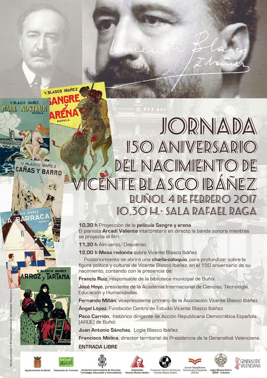 Jornada aniversario nacimiento Blasco Ibáñez